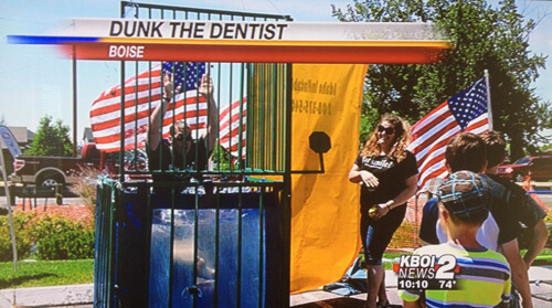 Dunk the Dentist - Boise Dentist 2014